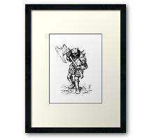 DUNGEON SKELETON Framed Print