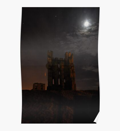 Helmsley Castle at Night Poster