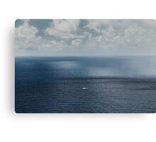 Alone on the open seas Canvas Print