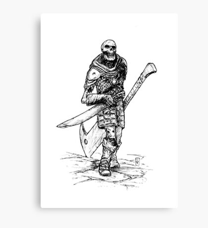 DUNGEON SKELETON Canvas Print