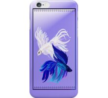 Blue 'n' White Siamese Fighting Fish iPhone Case/Skin