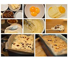 Fruit cake - collage photo recipe Photographic Print