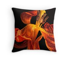 Copper Flames Throw Pillow