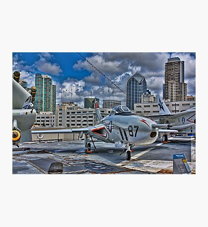 WWII Plane, USS Midway Photographic Print