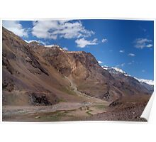 Scenery in Spiti Valley Poster