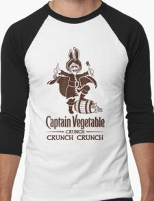 Captain Vegetable Men's Baseball ¾ T-Shirt