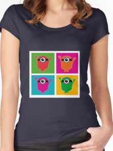 Colorful Minions Women's Fitted Scoop T-Shirt