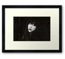 """"""" Don't hide your love behind a wall """" Framed Print"""