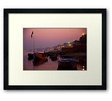 Shadowy Ganges Framed Print