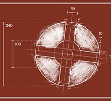 RED Team Fortress Logo Blueprint by Defstar
