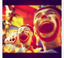 Laughing Clowns Take 2 by Catherine C.  Turner