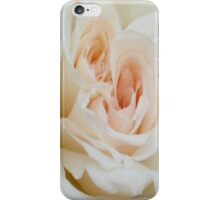 Close Up View Of A Beautiful White Rose. iPhone Case/Skin