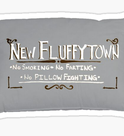 New Fluffytown Sticker
