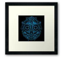 Robot Skull - blue Framed Print