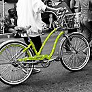 The Green Polka Dot Electra Bike by Rebecca Dru