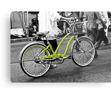 The Green Polka Dot Electra Bike Metal Print