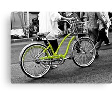 The Green Polka Dot Electra Bike Canvas Print