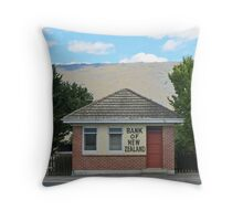 old bank building Throw Pillow
