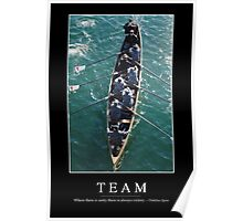 Team: Inspirational Quote and Motivational Poster Poster