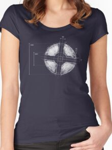 BLUE Team Fortress Logo Blueprint Women's Fitted Scoop T-Shirt