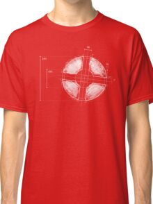 RED Team Fortress Logo Blueprint Classic T-Shirt