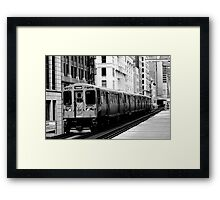 Brown Line Framed Print