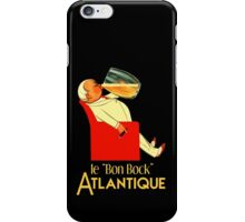 Retro French beer ad Le Bon Bock iPhone Case/Skin