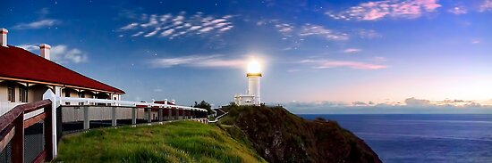 Byron Bay Lighthouse - Panorama by Maxwell Campbell