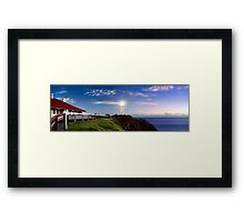 Byron Bay Lighthouse - Panorama Framed Print