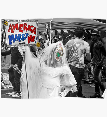 America, Marry Me Poster