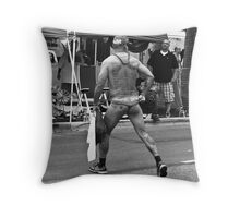 The Words on His Back Throw Pillow