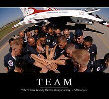 Team: Inspirational Quote and Motivational Poster by StocktrekImages