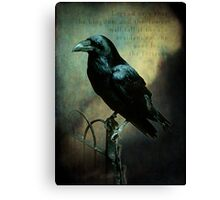Tower of London raven Canvas Print