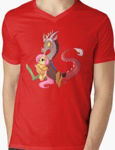 Discord and Fluttershy Cuddles Mens V-Neck T-Shirt
