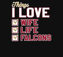 Things I Love Wife Life Falcons Unisex T-Shirt