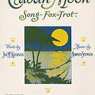 CUBAN MOON (vintage illustration) by ART INSPIRED BY MUSIC