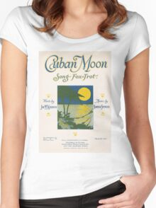 CUBAN MOON (vintage illustration) Women's Fitted Scoop T-Shirt