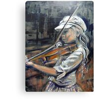 Alice and her Violin Canvas Print