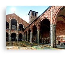 Monastere San Ambrosio - Milano side view Canvas Print