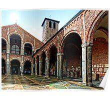 Monastere San Ambrosio - Milano side view Poster