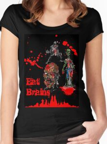 Eat Brains Women's Fitted Scoop T-Shirt