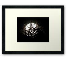 Moon Zap Framed Print