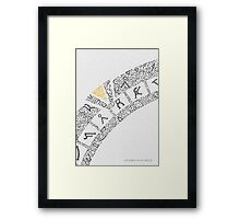 Earth (White) Framed Print