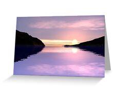 Lilac Sunrise Greeting Card