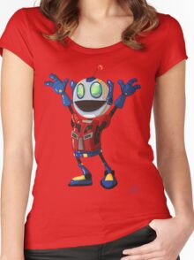 Optimus Time Women's Fitted Scoop T-Shirt