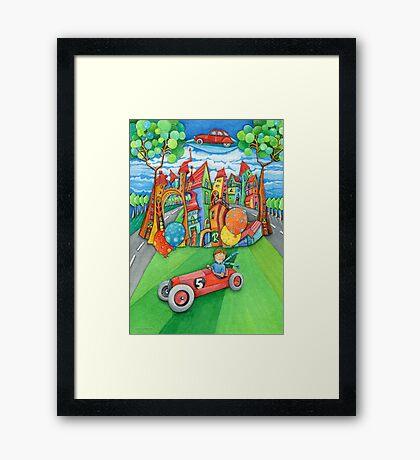 children's  car Framed Print