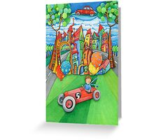 children's  car Greeting Card