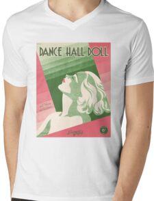 DANCE HALL DOLL (vintage illustration) Mens V-Neck T-Shirt