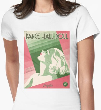 DANCE HALL DOLL (vintage illustration) Womens Fitted T-Shirt