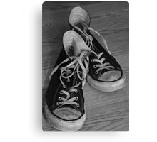 Black and White Kicks Canvas Print